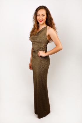 Zlaté dlouhé šaty